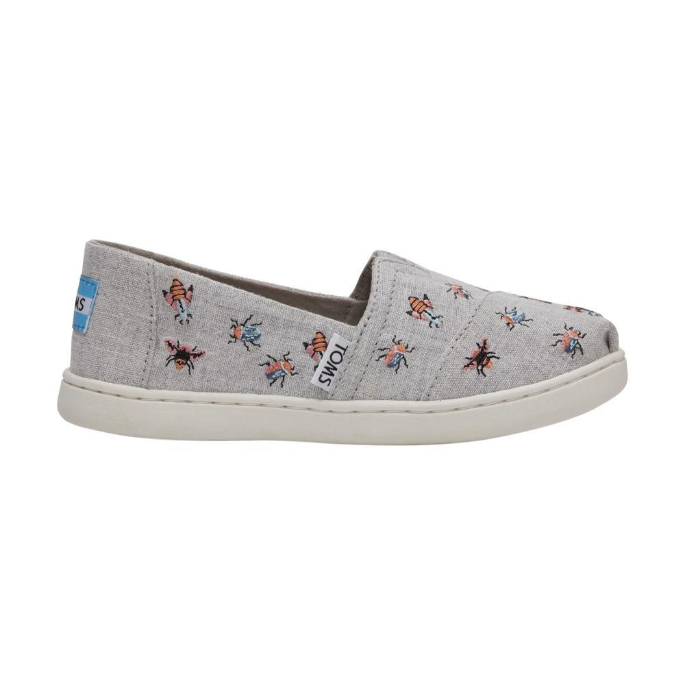 TOMS Youth Drizzle Grey Embroidered Bugs Classic Alpargatas GRYBUGS