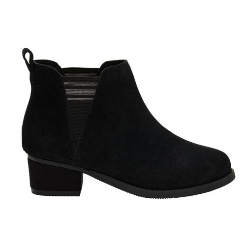 TOMS Youth Black Suede Esme Booties Blksuede
