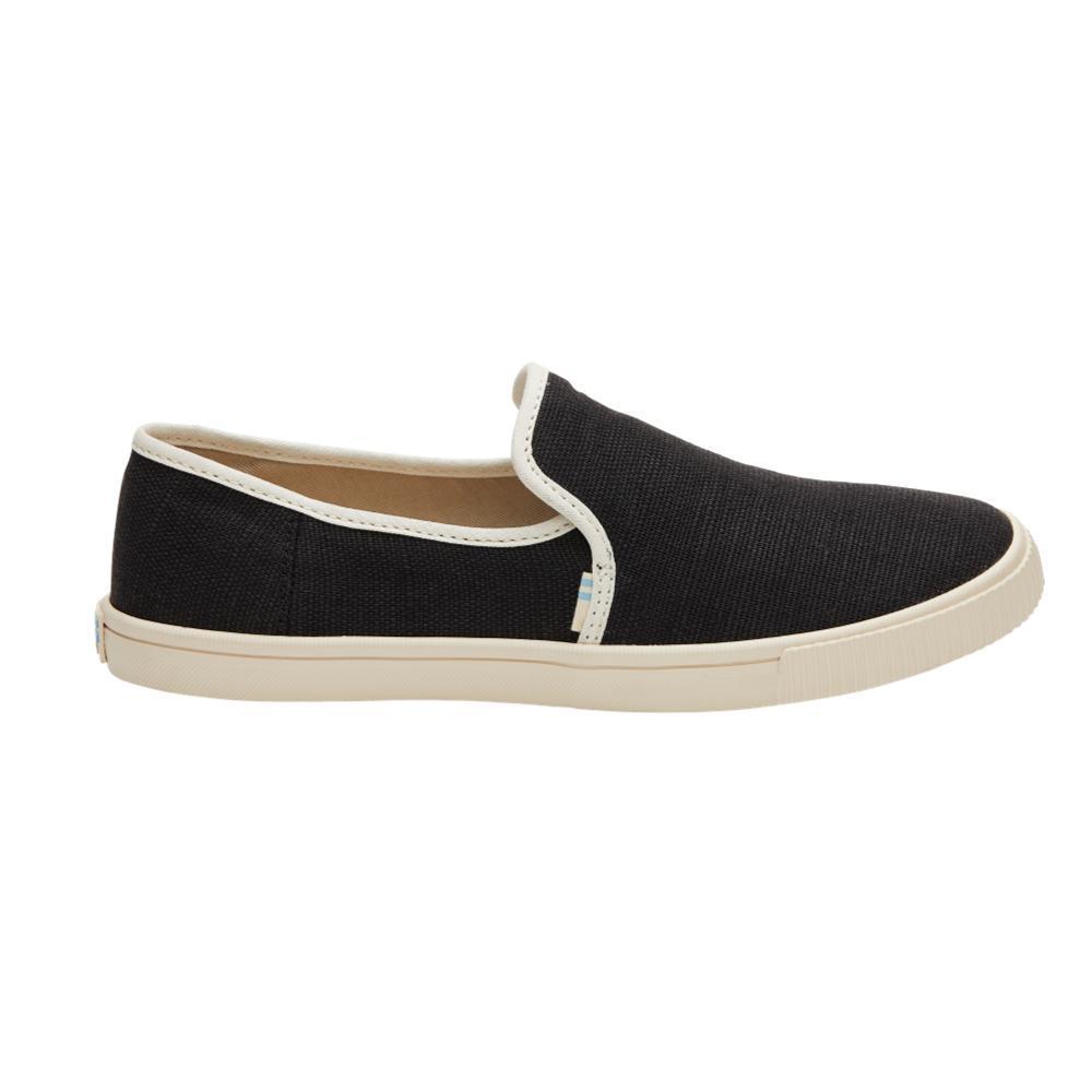 TOMS Women's Black Clemente Slip-Ons BLACK