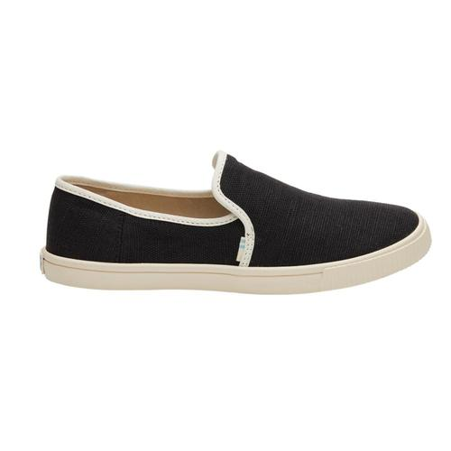 TOMS Women's Black Clemente Slip-Ons