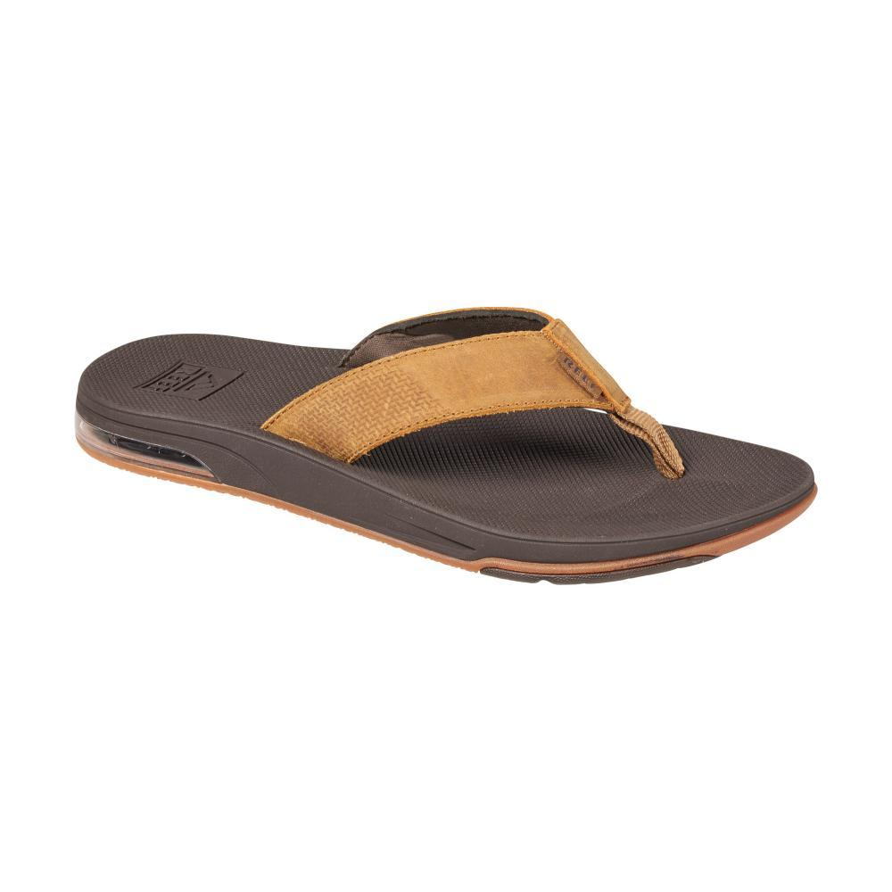 Reef Men's Leather Fanning Low Sandals BROWN_BRO