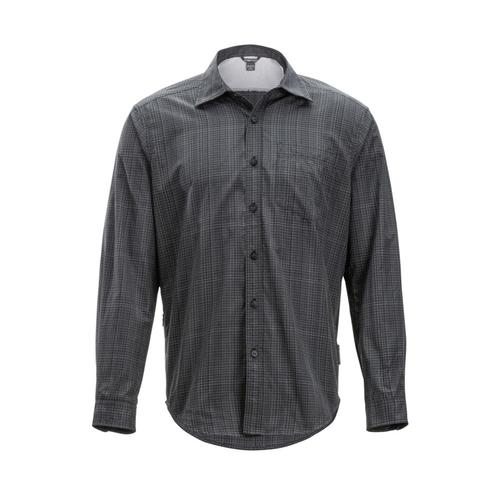 ExOfficio Men's Salida Ombre Plaid Long Sleeve Shirt Black