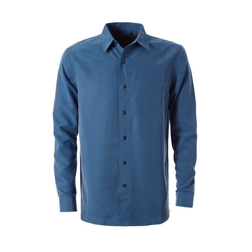 Royal Robbins Men's Desert Pucker Dry Long Sleeve Shirt DARKBLUE