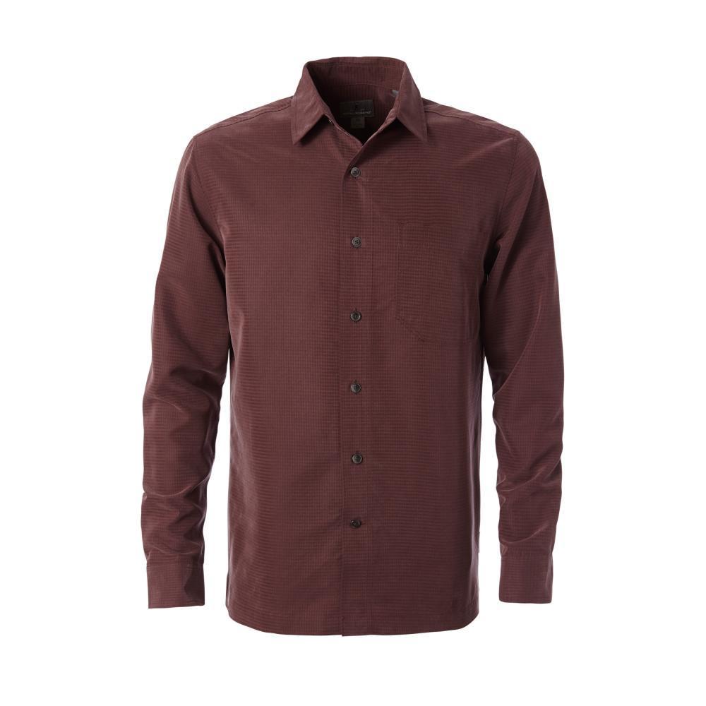 Royal Robbins Men's Desert Pucker Dry Long Sleeve Shirt FUDGE