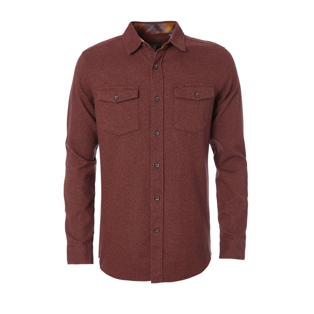 Royal Robbins Men's Bristol Twill Long Sleeve Shirt FUDGE