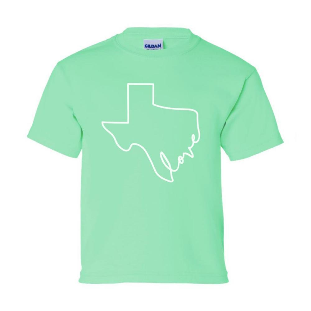 Outhouse Designs Kids Texas Love Tee GREEN