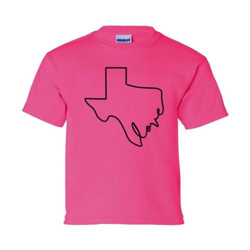 Outhouse Designs Kids Texas Love Tee Pink