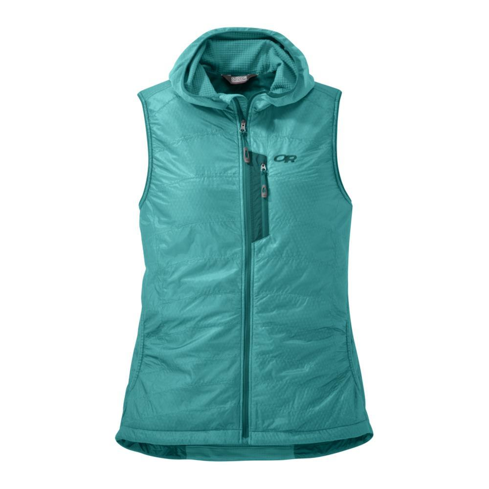 Outdoor Research Women's Deviator Hooded Vest SEAGLAS_1299