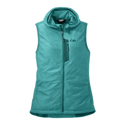8aac847256bc Outdoor Research Women s Deviator Hooded Vest Seaglas 1299