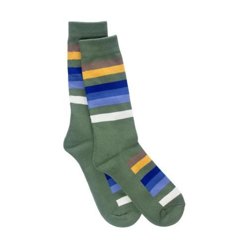 Pendleton Unisex National Park Stripe Crew Socks Green