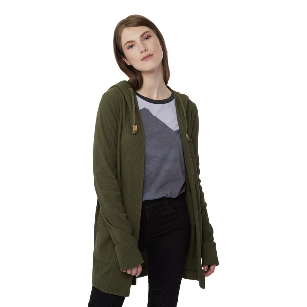 tentree Women's Ivy Cardigan OLIVENIGHT