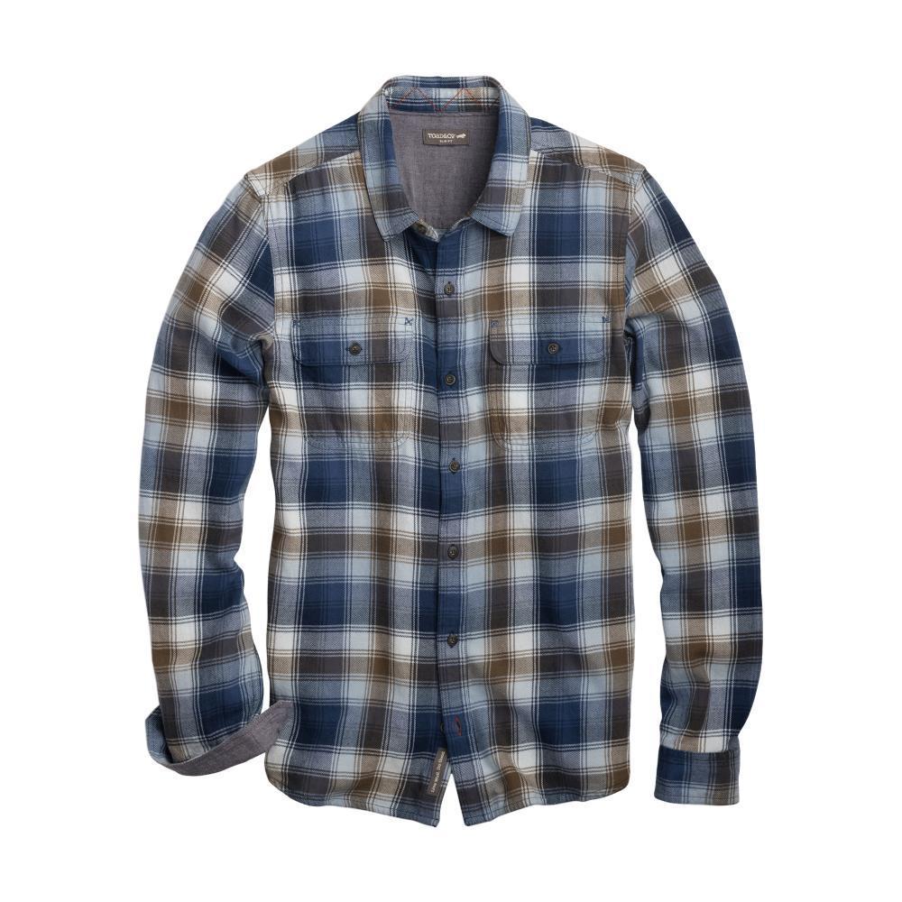 Toad&Co Men's Indigo Flannel Slim Long Sleeve Shirt WEATHERBLUE