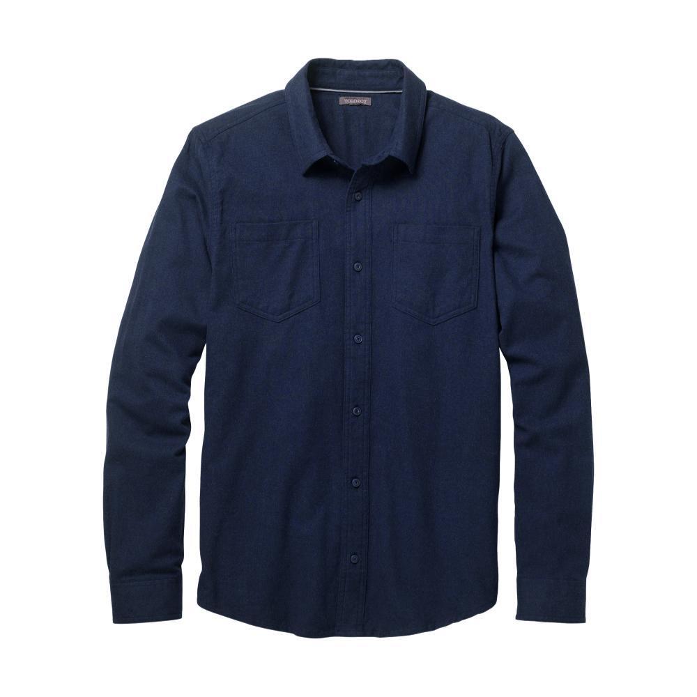 Toad&Co Men's Flannagan Solid Long Sleeve Shirt DEEPNAVY