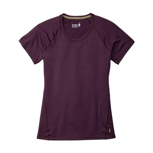 Smartwool Women's Merino 150 Base Layer Micro Stripe Short Sleeve Shirt Bordeau_590