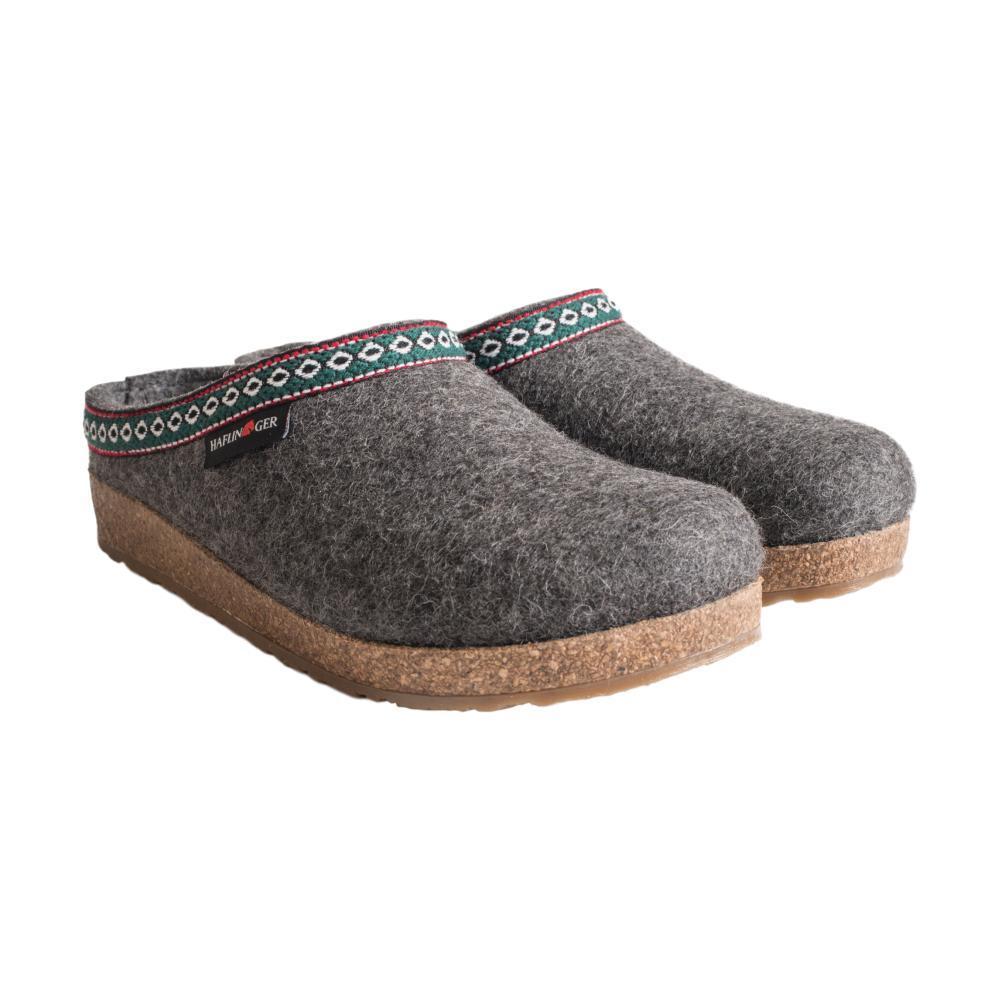 Haflinger Women's GZ Wool Felt Grizzly Clogs GREY