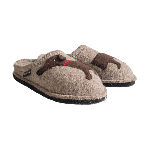 Haflinger Women's Doggy Slippers Beige
