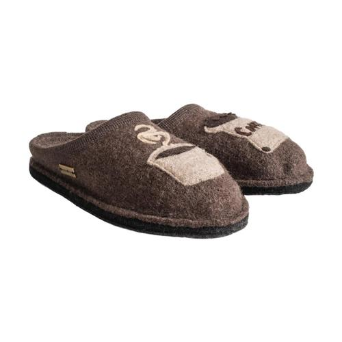 Haflinger Women's Coffee Slippers Brown