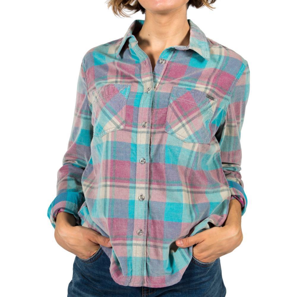 Gramicci Women's Knock On My Door Cord Plaid Shirt WINTERTURQ
