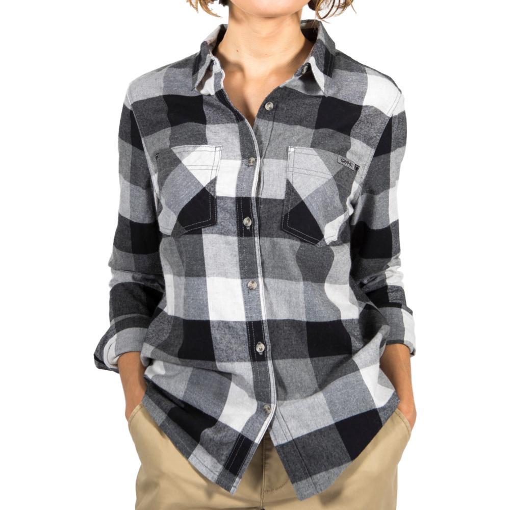 Gramicci Women's General Purpose Plaid Flannel Shirt HTHRGREY