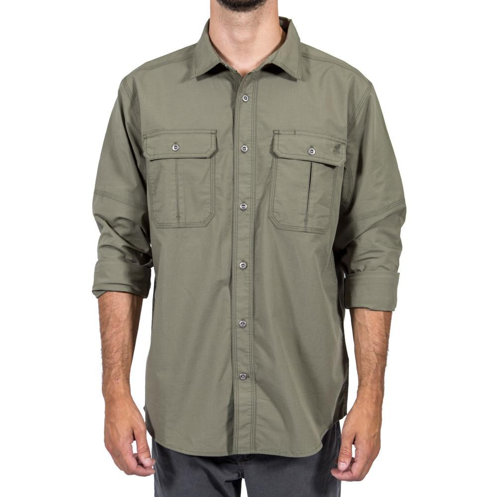 Gramicci Men's No-Squito Outback Convertible Long Sleeve Shirt ARMYGREEN