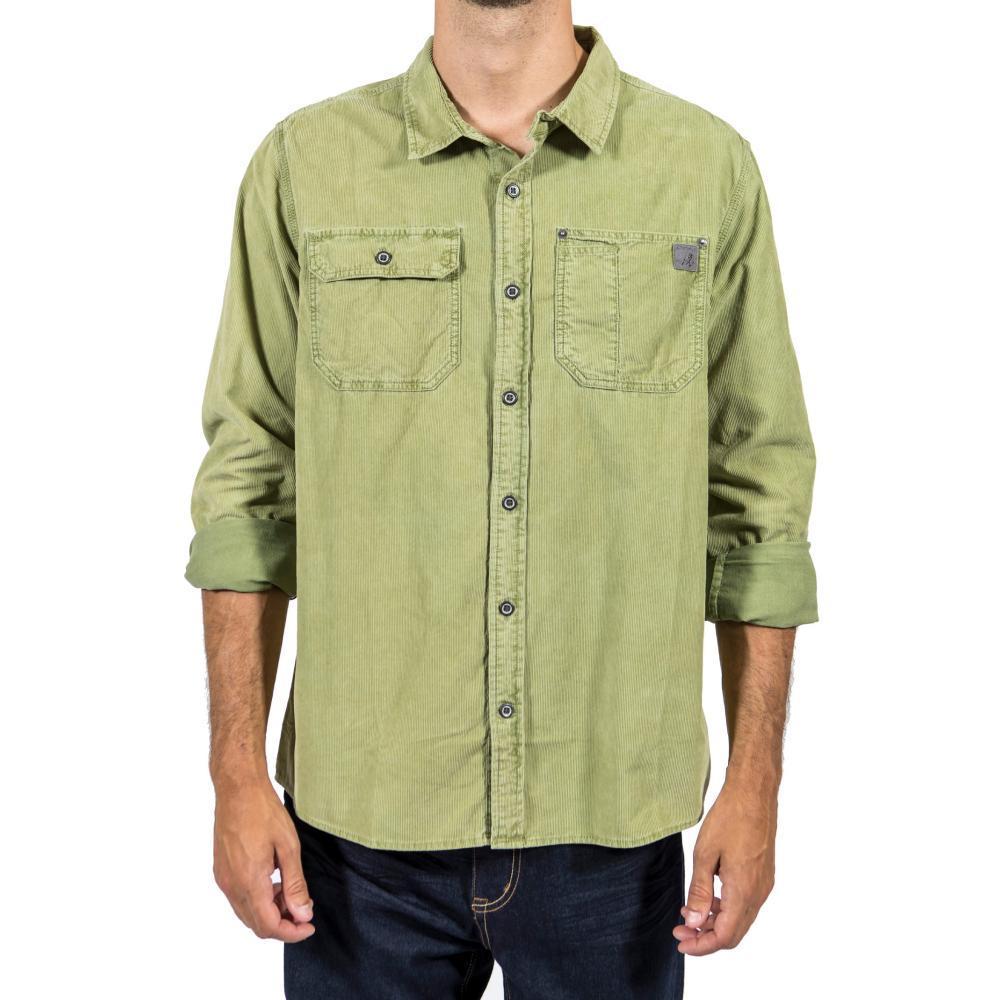 Gramicci Men's Indoor Mountain Man Long Sleeve Shirt CEDARGREEN