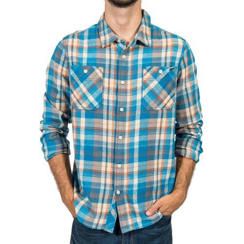 Gramicci Men's General Purpose Flannel Plaid Shirt Celestial