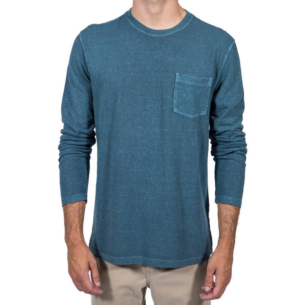 Gramicci Men's Camura Long Sleeve Crew Shirt ATLANTIC