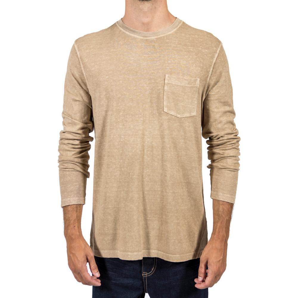 Gramicci Men's Camura Long Sleeve Crew Shirt CAMEL