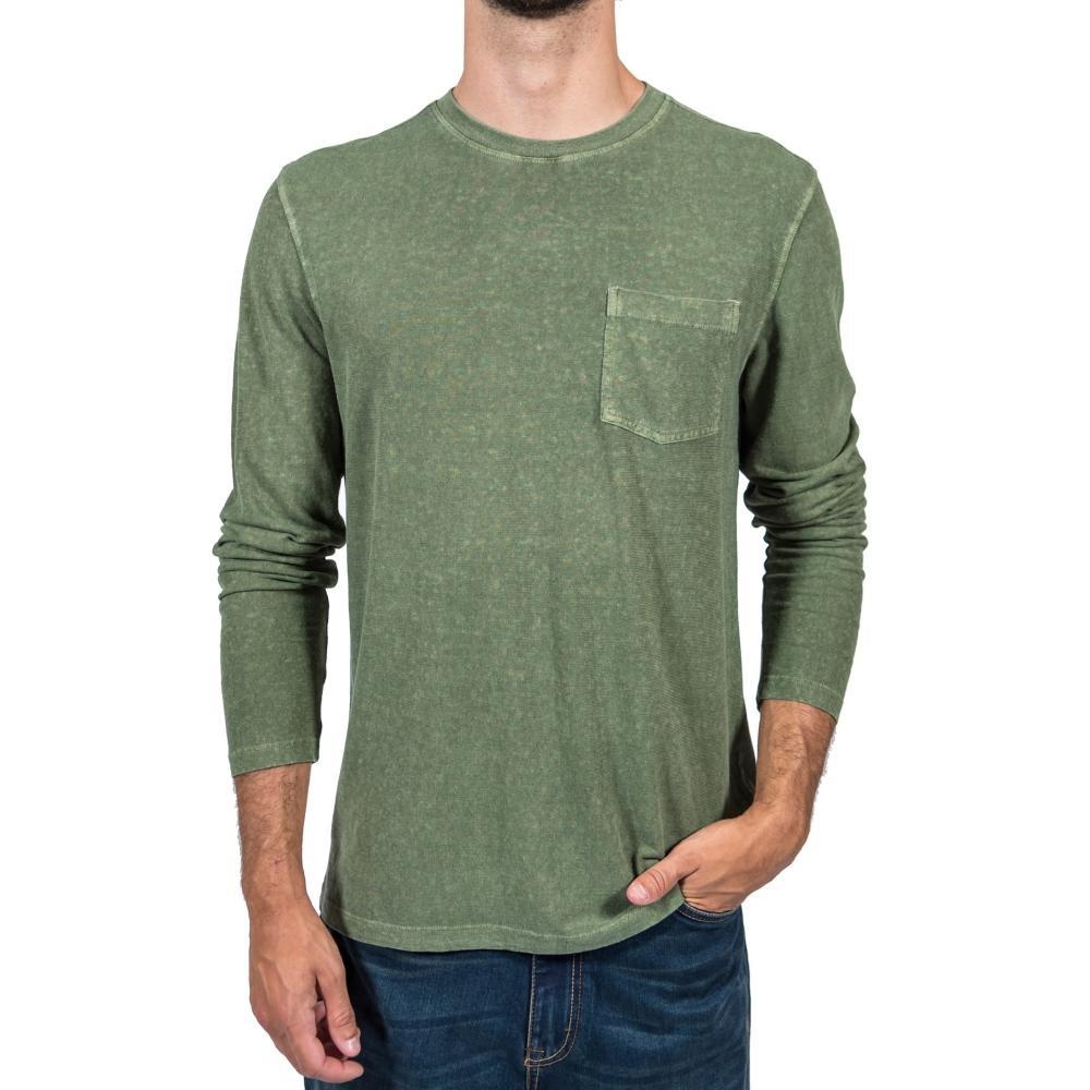 Gramicci Men's Camura Long Sleeve Crew Shirt LODENGREEN