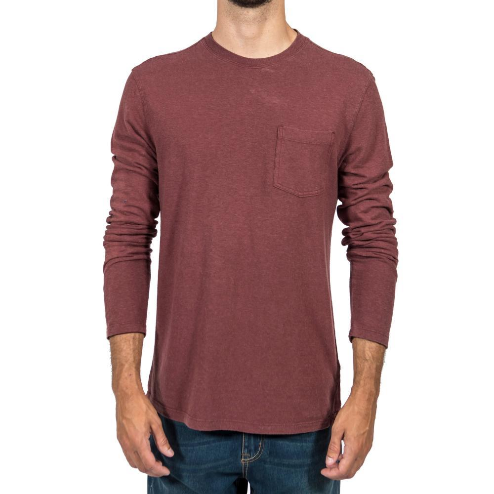 Gramicci Men's Camura Long Sleeve Crew Shirt MAROON