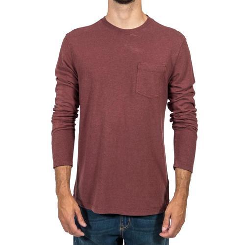 Gramicci Men's Camura Long Sleeve Crew Shirt Maroon