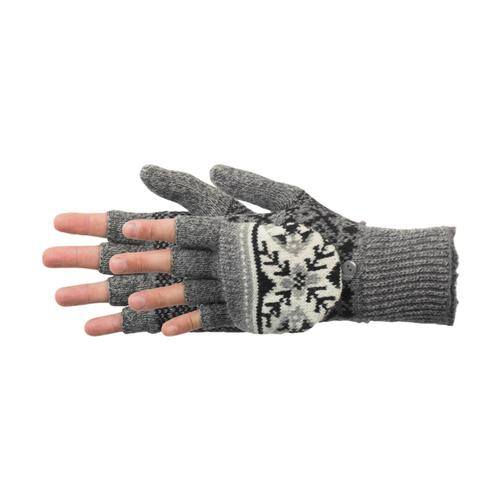 Manzella Women's Snow Star Convertible Gloves Ox.Heather