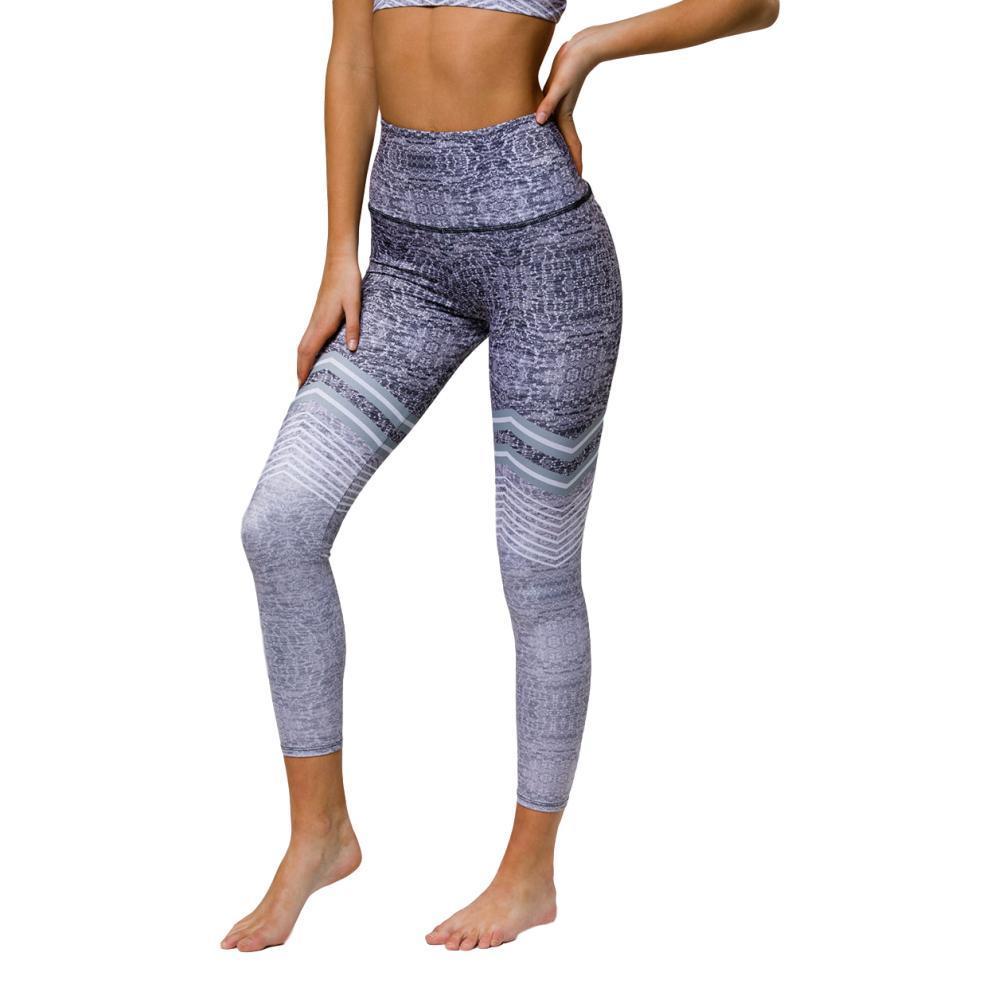 Onzie Women's Graphic High Rise Midi Leggings GRAPHITE