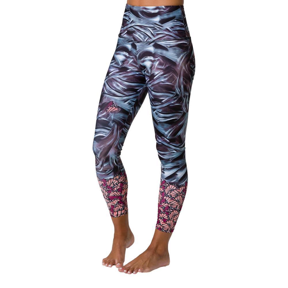 Onzie Women's Graphic High Rise Midi Leggings MTHRNATURE