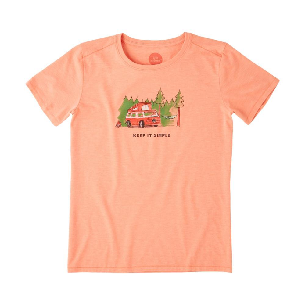 Life is Good Women's Keep it Simple Camper Cool Tee FRESHCORAL