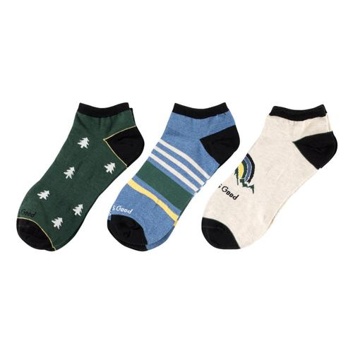 Life is Good Men's Tree Low Cut Socks - 3-Pack Bluegreen