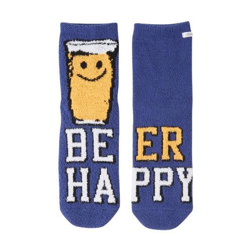 Life is Good Women's Happy Sudsy Plush Snuggle Crew Socks Darkestblue