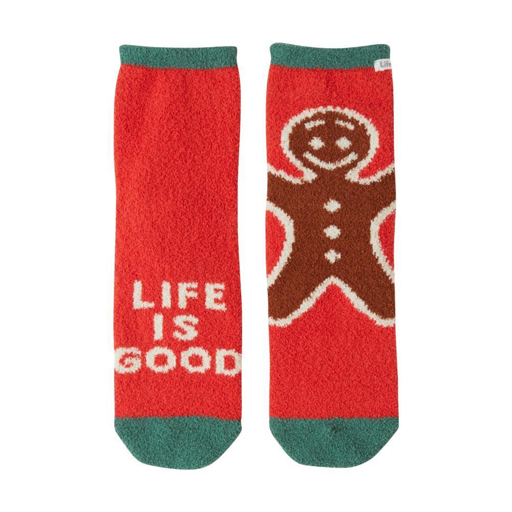 Life is Good Women's Gingerman Plush Snuggle Crew Socks AMERICANRED