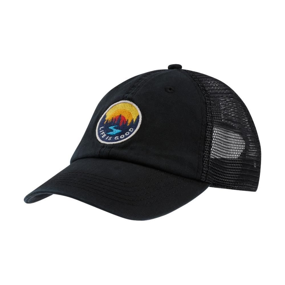 Life is Good Sunset Creek Patch Soft Mesh Back Chill Cap NIGHTBLACK