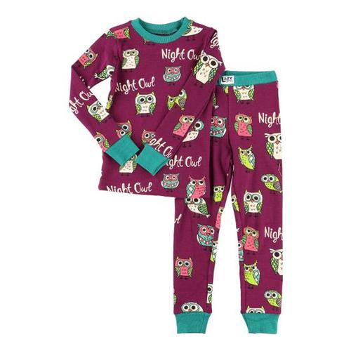 Lazy One Kids Night Owl PJ Set