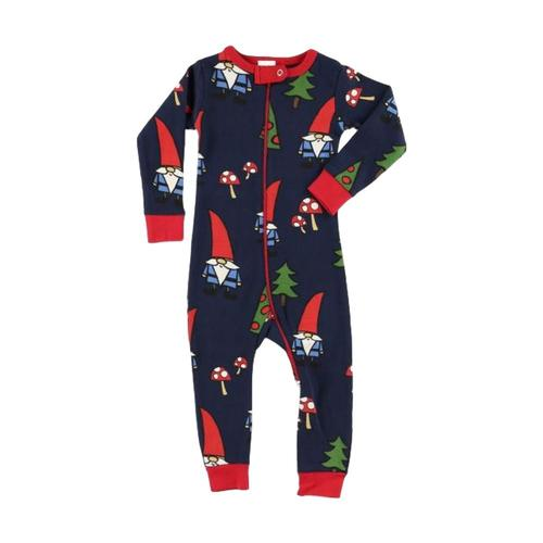 Lazy One Infant No Place Like Gnome Union Suit Navy_multi
