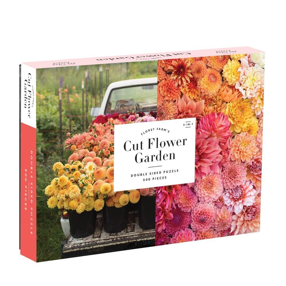 Chronicle Books Floret Farm ' S Cut Flower Garden 2- Sided 500- Piece Puzzle