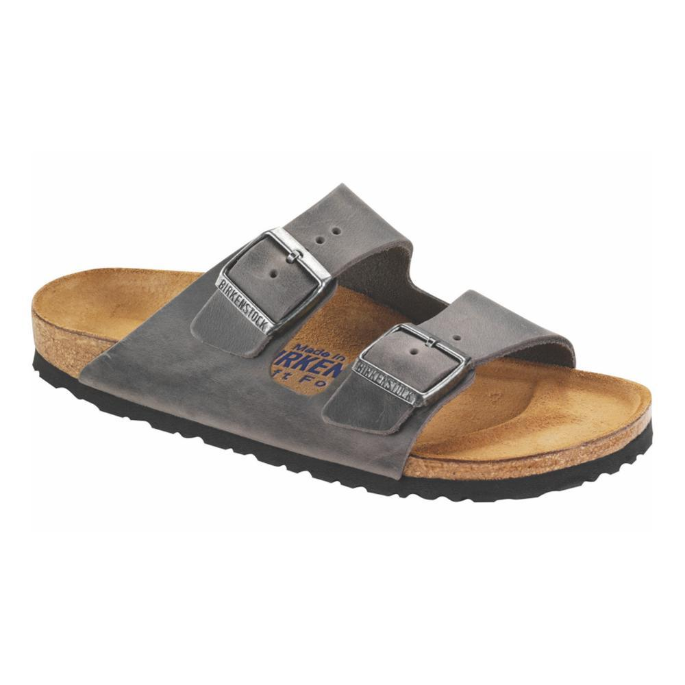 Birkenstock Women's Arizona Soft Footbed Oiled Leather Sandals IRON