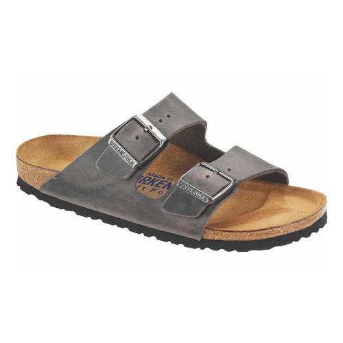 Birkenstock Women's Arizona Soft Footbed Oiled Leather Sandals Iron