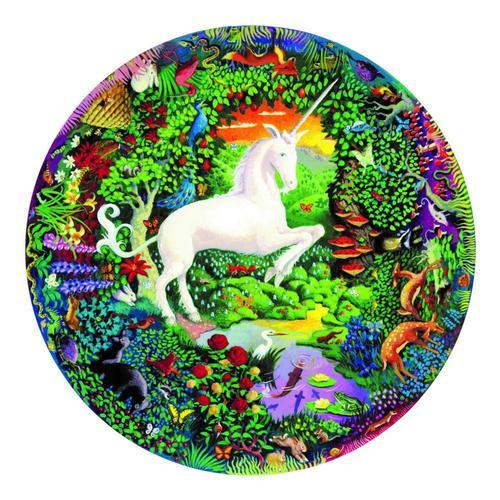 eeBoo Unicorn Garden 500-Piece Round Puzzle 500pc