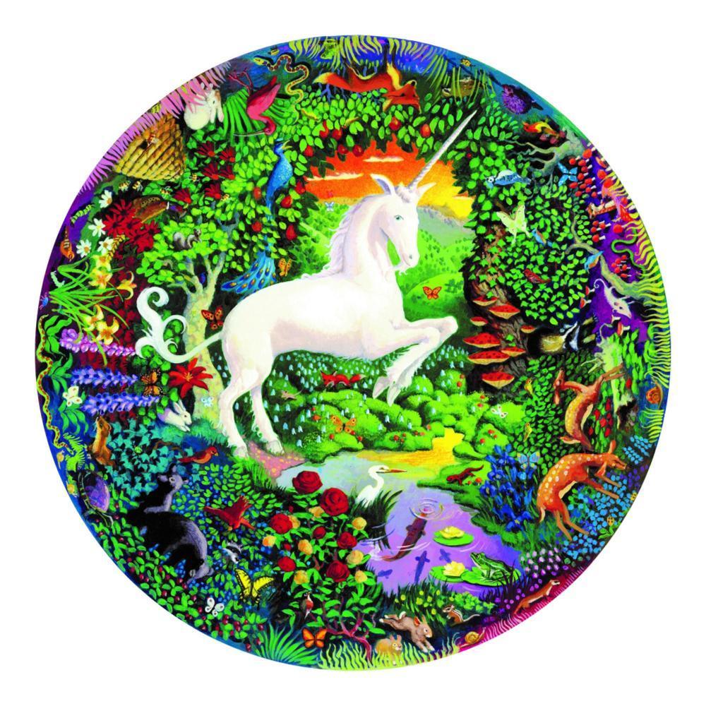 Eeboo Unicorn Garden 500- Piece Round Puzzle
