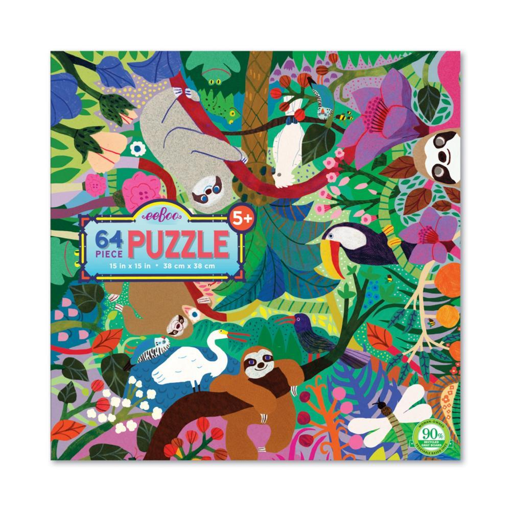 Eeboo Sloths At Play 64- Piece Puzzle
