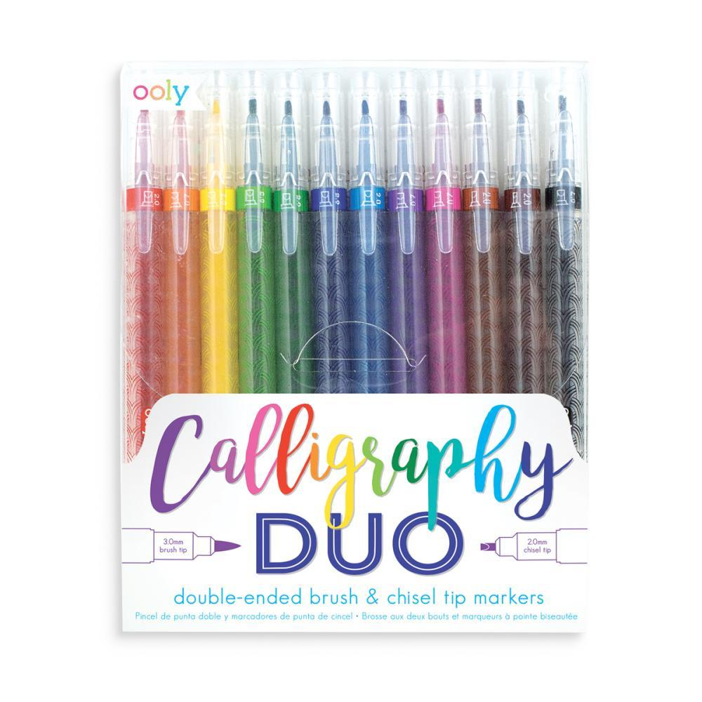 Ooly Calligraphy Duo Chisel and Brush Tip Markers SETOF12