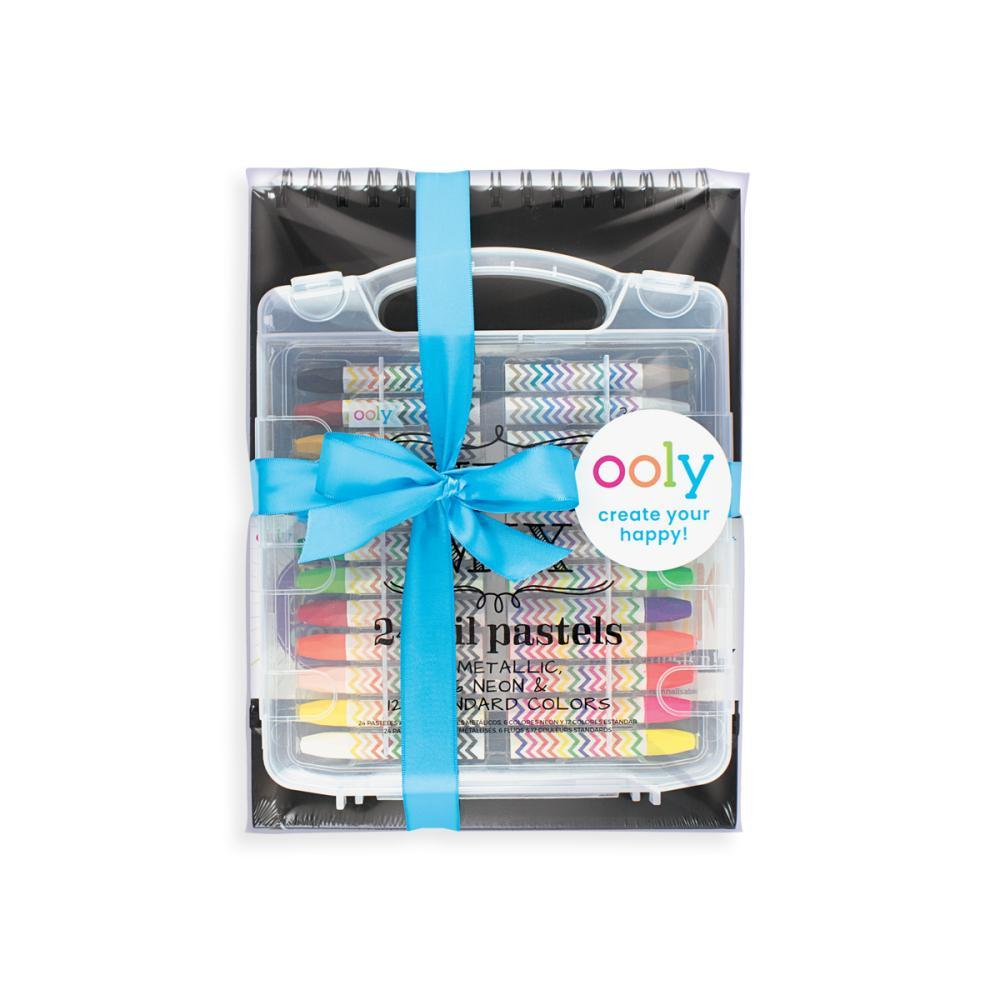 Ooly Color On Black Coloring Gift Set