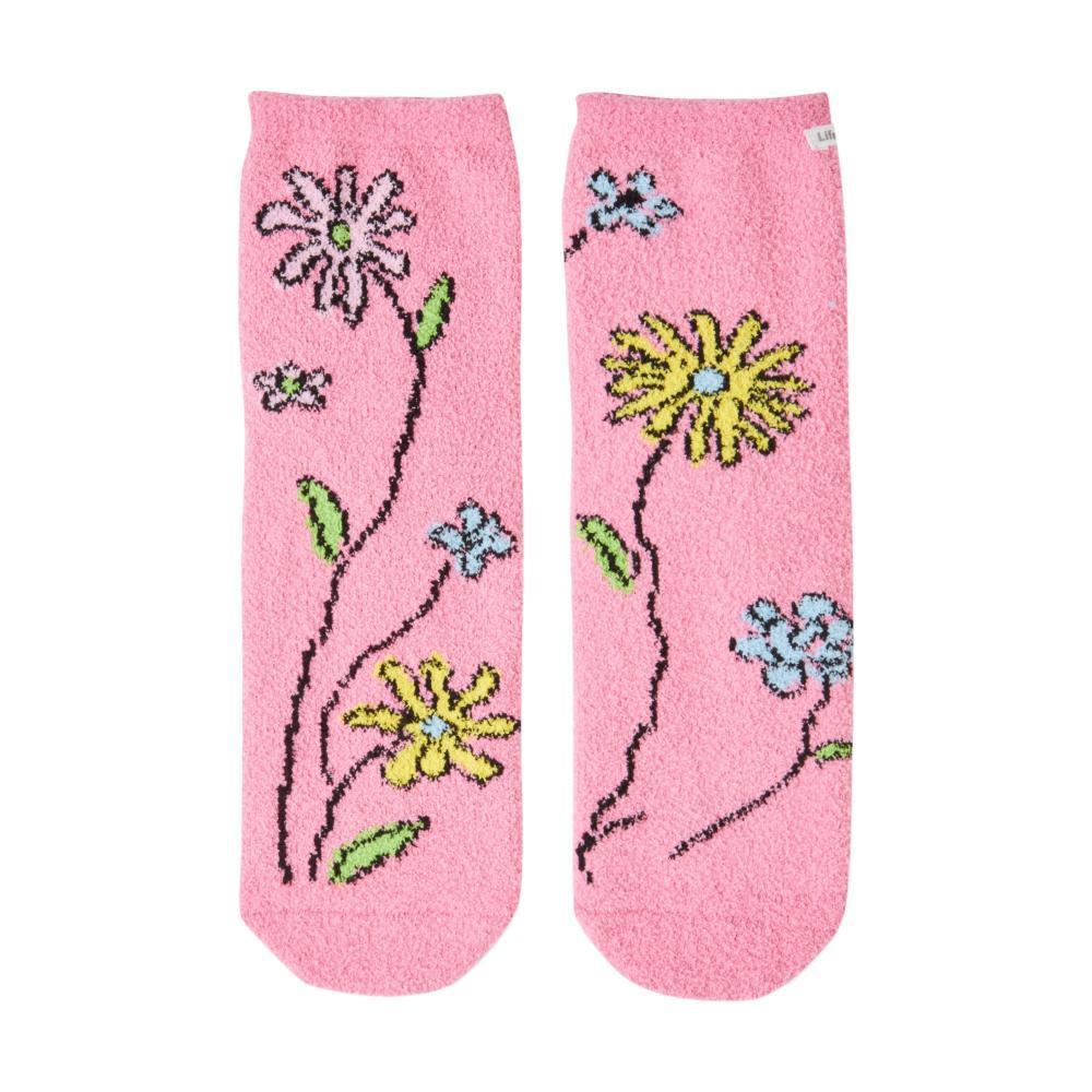 Life is Good Women's Wild Flowers Plush Snuggle Crew Socks LTWLDCHERRY